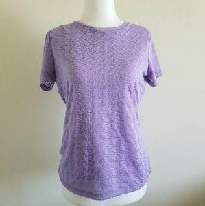 Calvin Klein NWT Purple/Mesh Tee